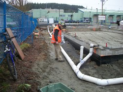 Partial foundation backfill, controlled compaction