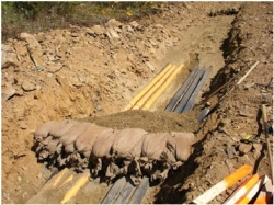 Trench Dam to Prevent Washout