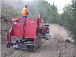 Moving Screening Plant with Excavator